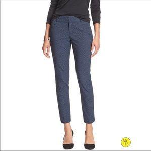 Banana Republic tailored pants, textures blue